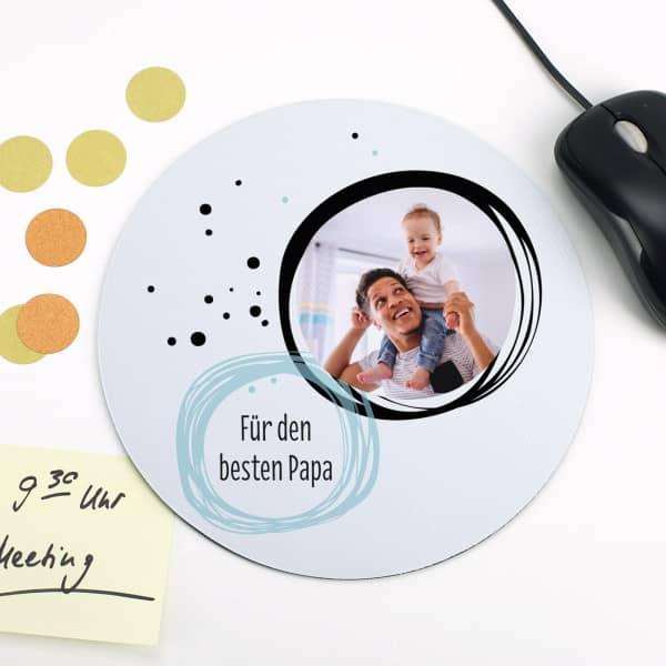 Mousepad mit Foto und kurzem Wunschtext