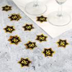 Konfetti zum 50. Geburtstag - Star in Gold und Schwarz