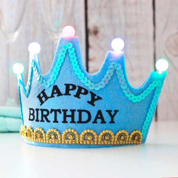 blaue Geburtstagskrone