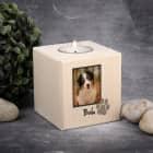 Trauer Teelichthalter für Hunde mit Foto