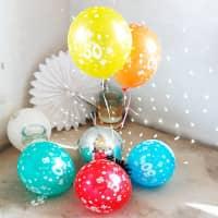 5 Luftballons zum 50. Geburtstag
