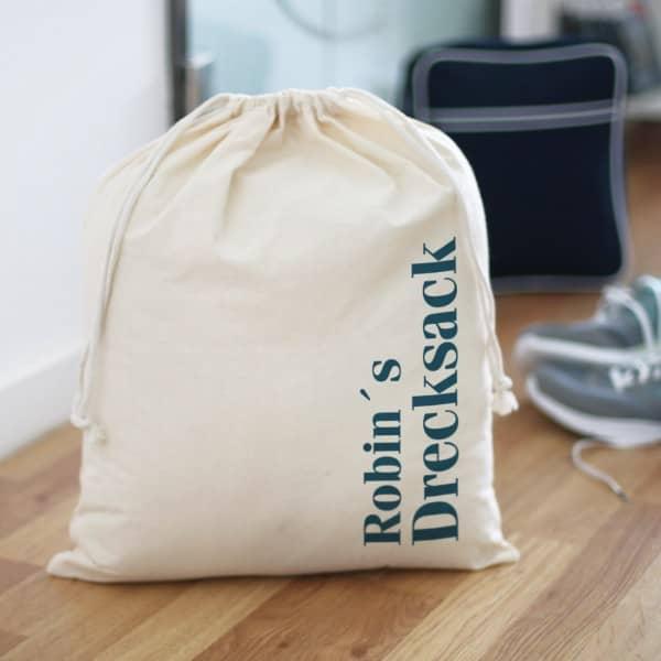 """persönlicher """"Drecksack"""" für Schmutzwäsche mit Ihrem Wunschnamen"""
