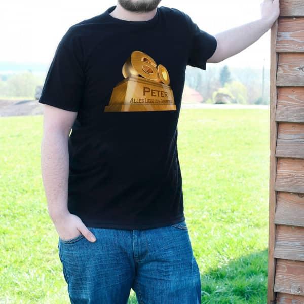 T-Shirt zum 60. Geburtstag mit monumentaler Zahl