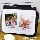 Waschtasche mit Polaroid-Fotos bedruckt