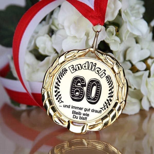 Medaille zum 60. Geburtstag