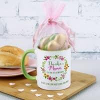 Tasse - Danke Mama, ich bin toll geworden! mit Lindt Schokoladenherzen