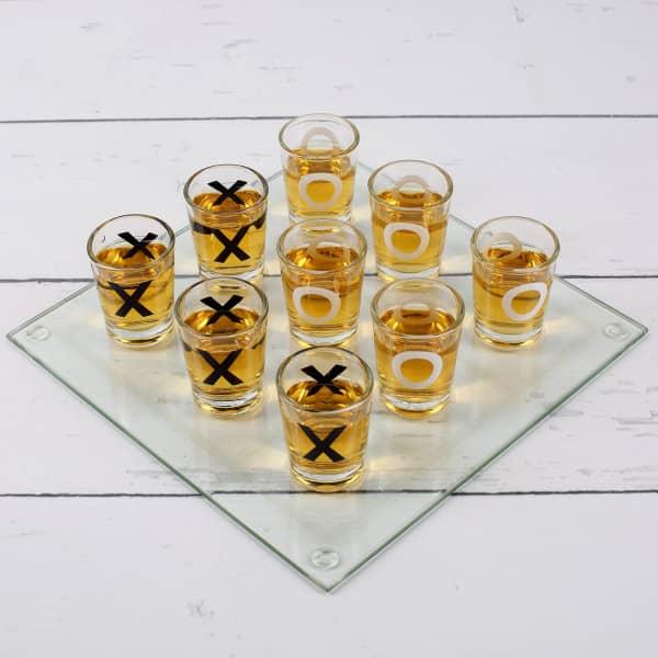 Partybedarfpartyspiele - Glas Trinkspiel Tic Tac Toe - Onlineshop Geschenke online.de