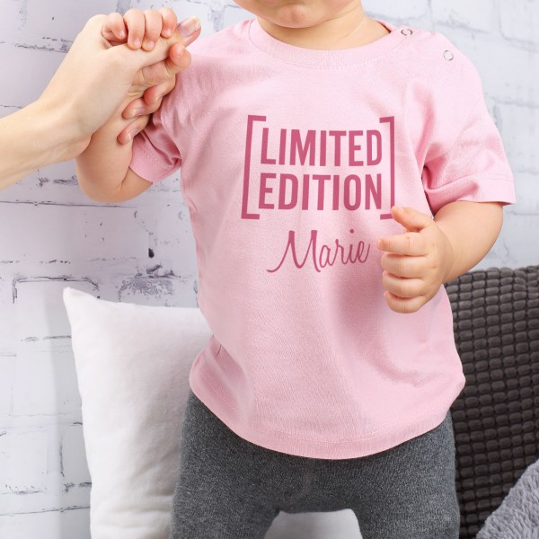 Rosa T Shirt für Babys Limited Edition mit Name