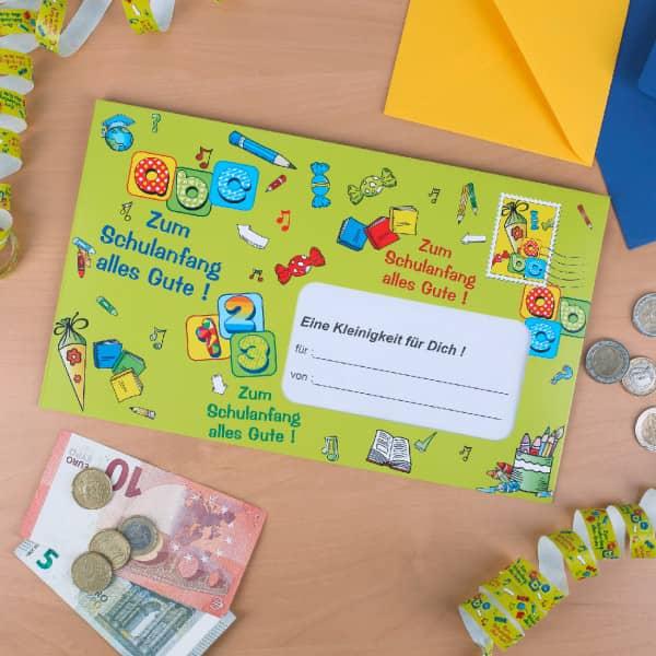 XXL Umschlag für Geldgeschenke zur Einschulung