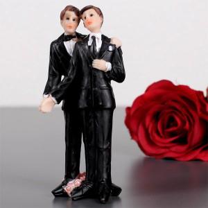 Gleichgeschlechtliche Hochzeitsfiguren Männer