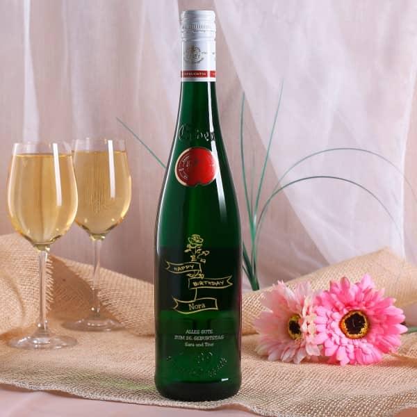 Weinweinflasche Geburtstag Vintage