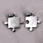 Gravierte Puzzle Anhänger mit Ihren Wunschinitialen