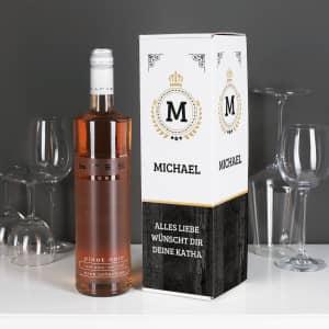 Wein mit personalisierter Verpackung