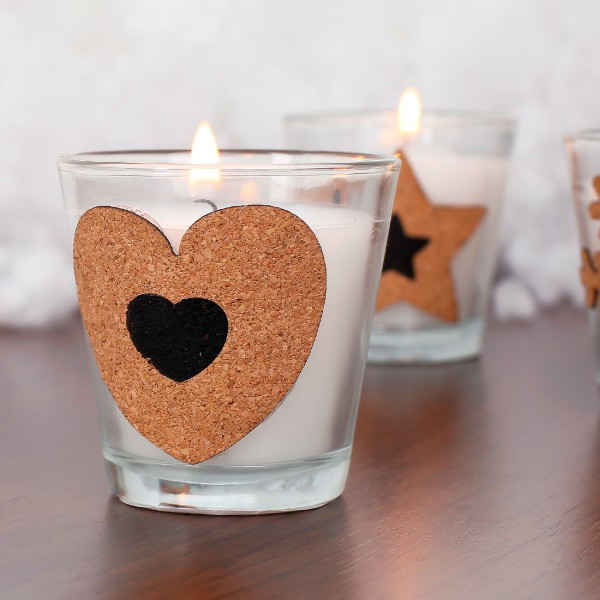 Duftkerze im Glas mit Kork - Herz