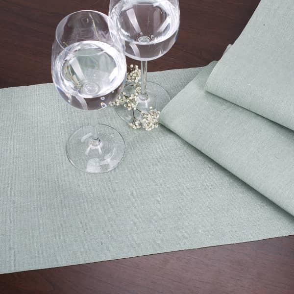 Tischläufer aus Baumwolle Mint