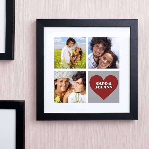 Bilderrahmen Hochzeit Fotos personalisiert