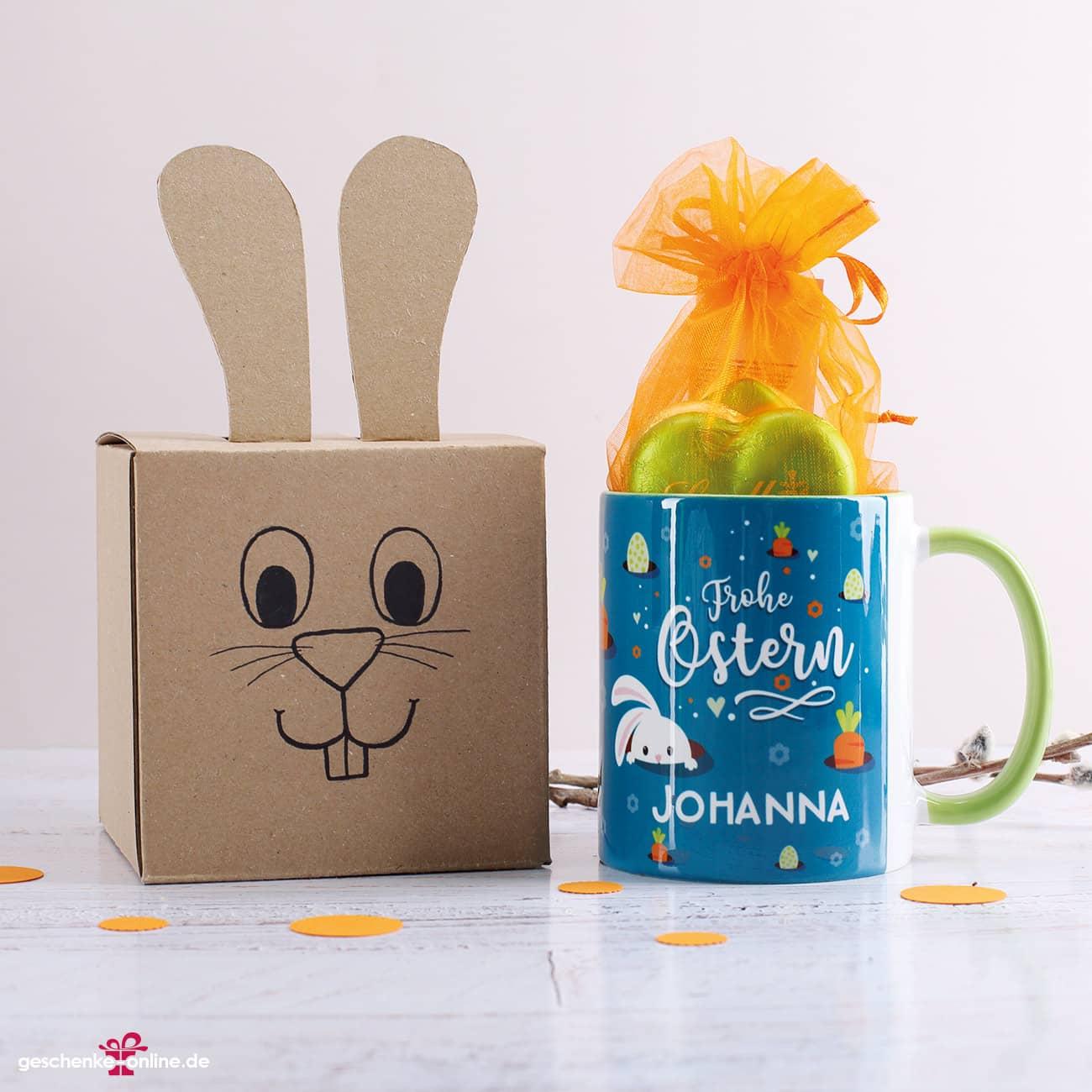 Tassenverpackung als Hase