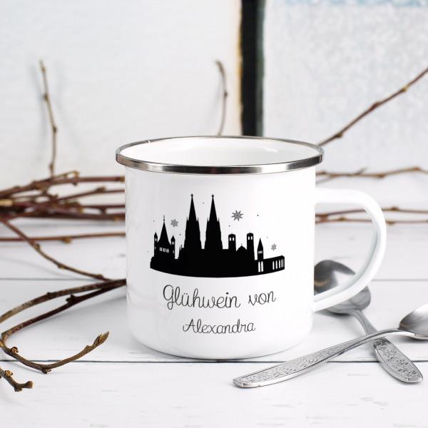 Nützlichküchenaccessoires - Persönliche Glühweintasse mit Wunschnamen und Skyline - Onlineshop Geschenke online.de
