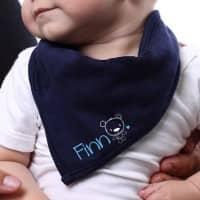 Blaues Bandana für Babys mit Namensaufdruck