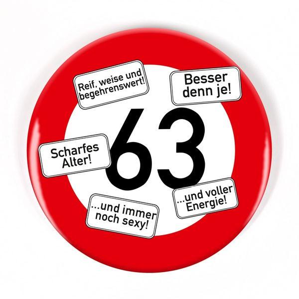 Button zum 63. Geburtstag