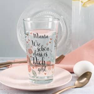Trinkglas als Dankeschön mit Name
