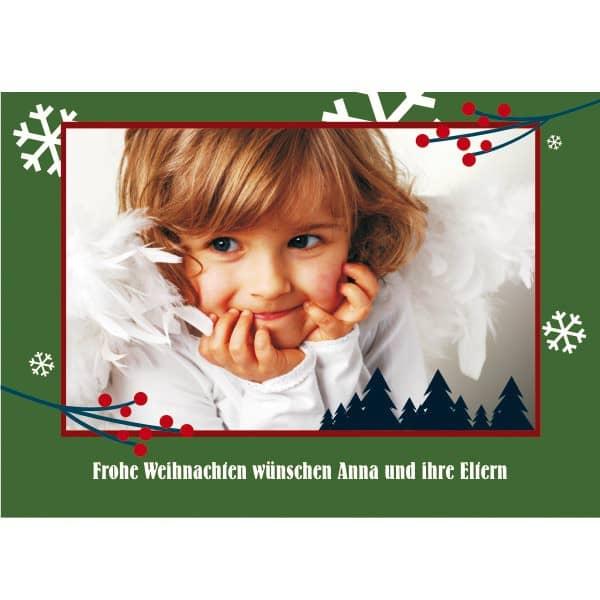 Postkarte mit ihrem Foto und Text