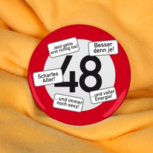 Button zum 48. Geburtstag