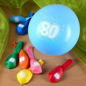 Luftballons zum 80. Geburtstag