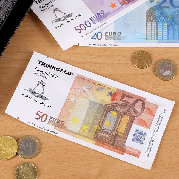 Trinkgeld 50 Euro Feigenlikör mit Wodka