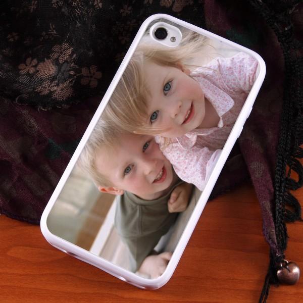weißes IPhone 4(s) Case mit Ihrem Foto