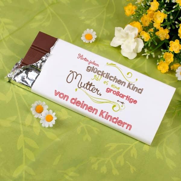 100g Schokolade mit Spruch und Namen für Mama