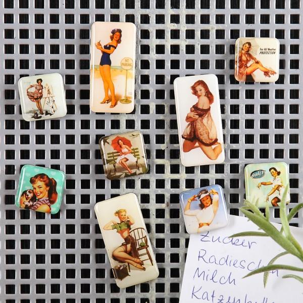 Kühlschrankmagneten mit heißen Pin Up Girls