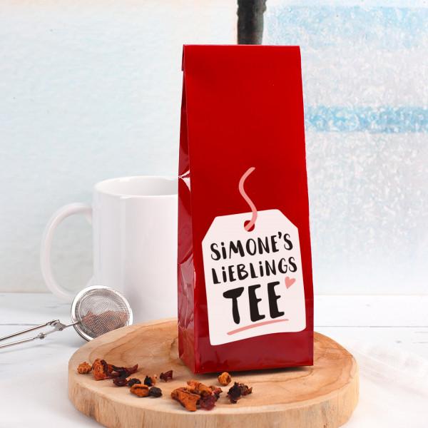 Tee Lieblingstee Motiv mit Name