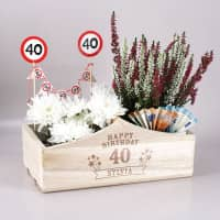 Pflanzkorb zum Geburtstag als Geldgeschenk oder Dekoration
