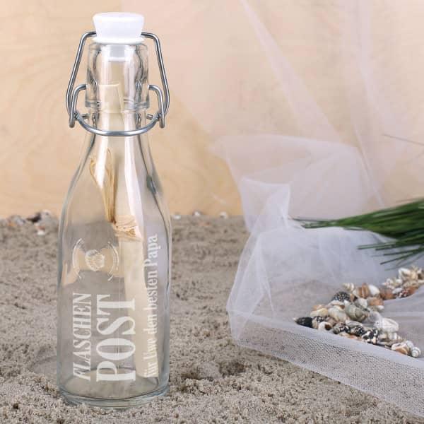 Ausgefallenkleineaufmerksamkeiten - Muschel Flaschenpost Mini mit Wunschtext - Onlineshop Geschenke online.de