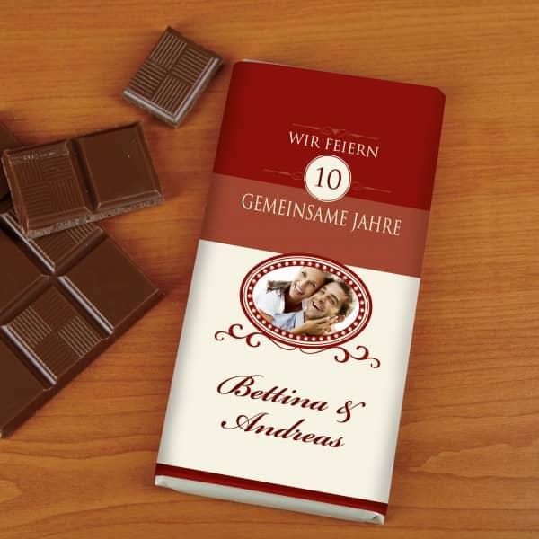 100g Schokolade zur Hochzeit mit Foto