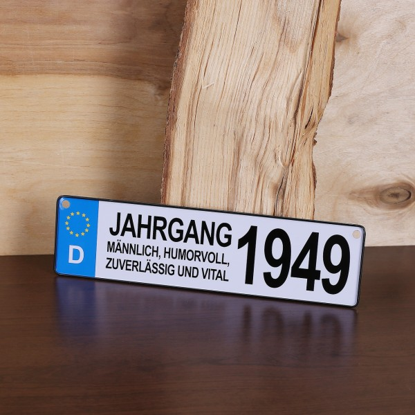 Autokennzeichen *Jahrgang 1949* für Männer