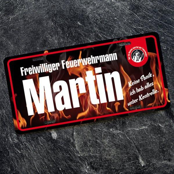 Blechschild mit Name für Feuerwehrmänner