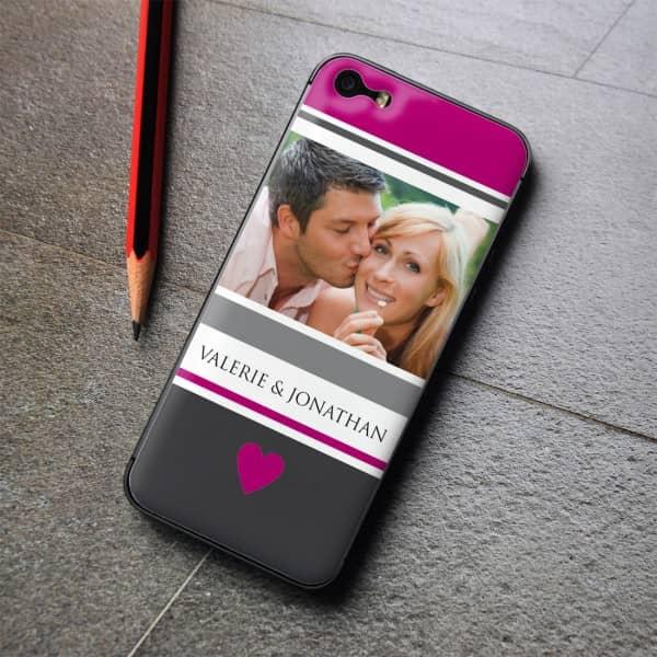Gelaufkleber für Verliebte mit Ihrem Wunschfoto, für iPhone 5