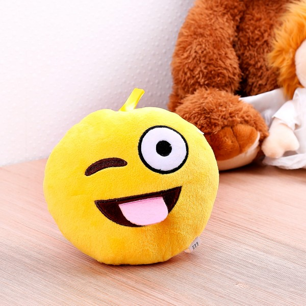Kleines verrücktes Smiley-Kisseb