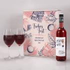 Geschenkset zu Weihnachten mit 2 Weingläsern und Lieblingswein in Geschenkverpackung