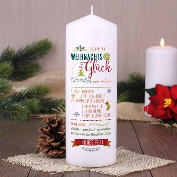 Kerze Weihnachtsglück Rezept