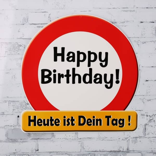 "Riesiges Schild "" Happy Birthday"""