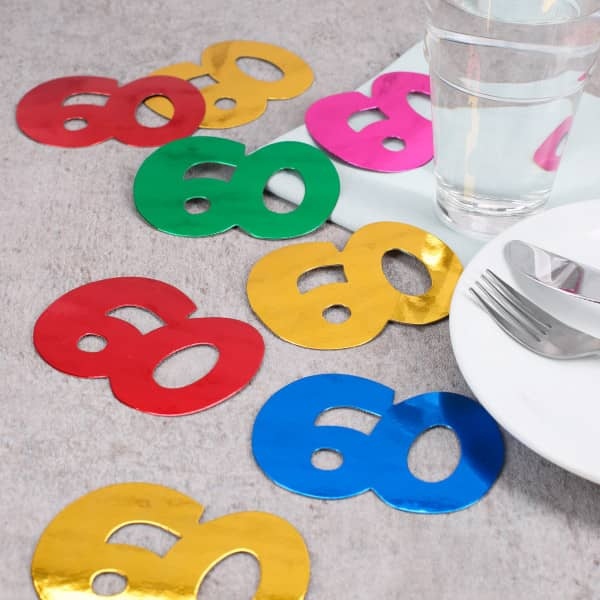 Jumbo Konfetti zum 60. Geburtstag