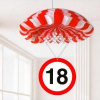 Deko-Fallschirm zum 18. Geburtstag