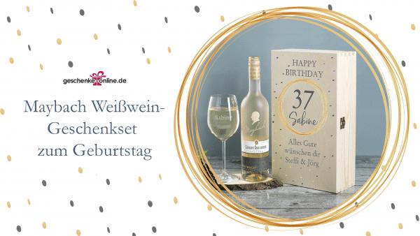 edles Maybach Wein-Geschenkset zum Geburtstag
