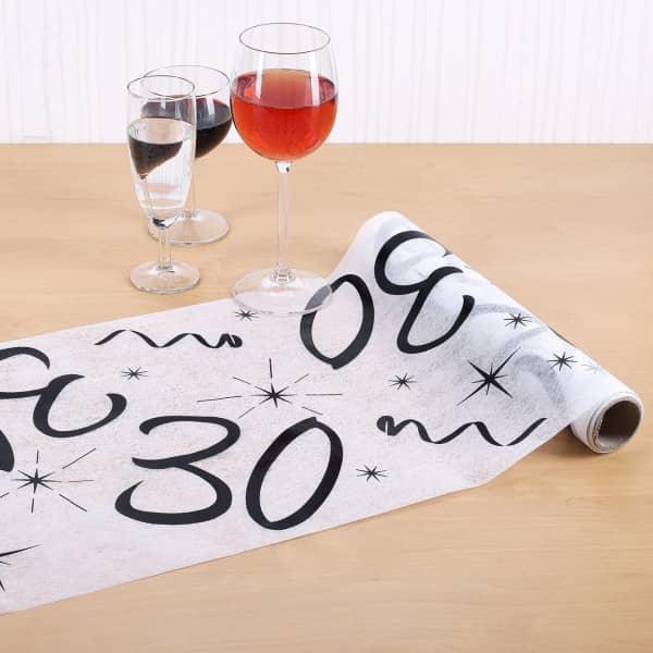 Tischläufer zum 30. Geburtstag