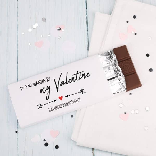 Schokolade zum Valentinstag mit Wunschtext