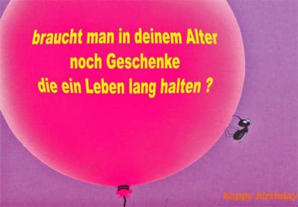 Postkarte zum Geburtstag mit Luftballon