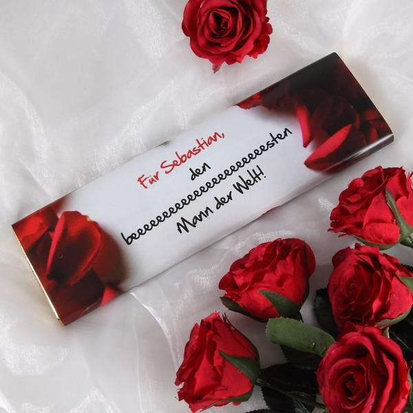 300g Tafel Schokolade für Ihren Mann zum Valentinstag